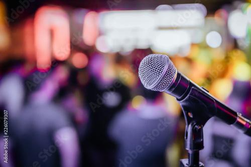 Obraz na płótnie Sahne Mikrofonu