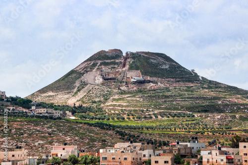 Fototapeta Ruins  of Herodium (Herodion) Fortress of Herod the Great, Judaean Desert near t