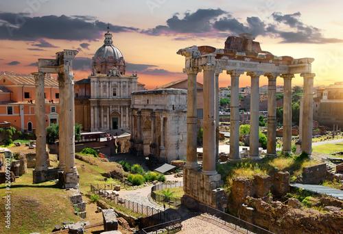 Poster Ruine Morning on Roman Forum
