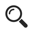 Search icon button symbol vector. Magnifying glass symbol. Look pictogram