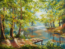 Oil Painting Landscape - Autum...