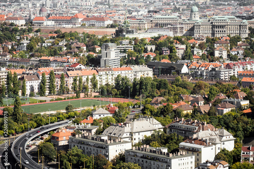 Budapest cityscape aerial view