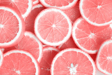 Pink Citrus Fruits - Cuts, Sli...