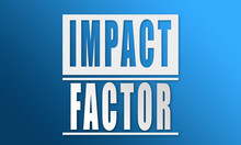 Impact Factor - Neat White Text Written On Blue Background