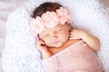 Cute And Adorable Newborn Cauc...