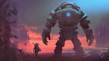 Giant Robot And Its Owner Look...