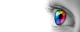 Fototapeta Rainbow - Eye With Rainbow Colors