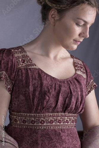 Fotografie, Tablou Regency woman close up