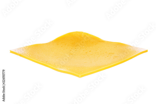 Fototapeta Slice of cheese isolated obraz