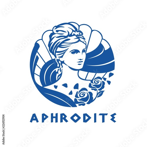 greek goddess aphrodite illustration Canvas Print
