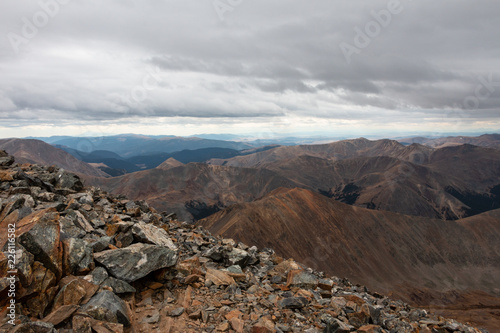 Foto op Aluminium Chocoladebruin Gray's Mountain Trail Views Colorado 14ers
