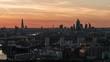 Establishing Aerial View of London Skyline, The City, Shard and Tower Bridge, United Kingdom