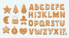 Alphabet Ginger Cookie Isolate...