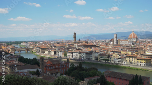 Background plate of scenic Florence cityscape to be green screen composited