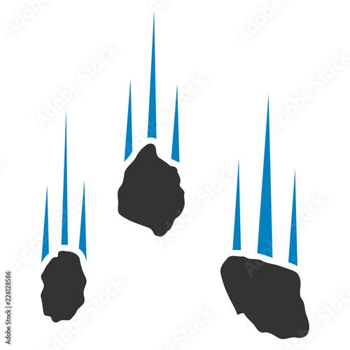Vector falling rocks illustration Fototapet