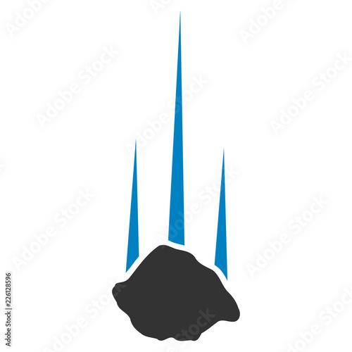 Fotografie, Obraz Vector falling stone illustration