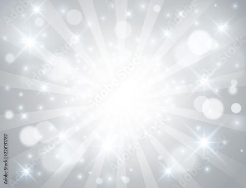 シルバー光背景 Fotomurales