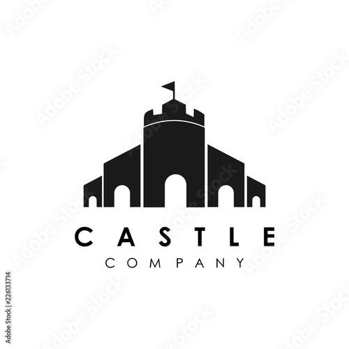 Leinwand Poster castle logo template