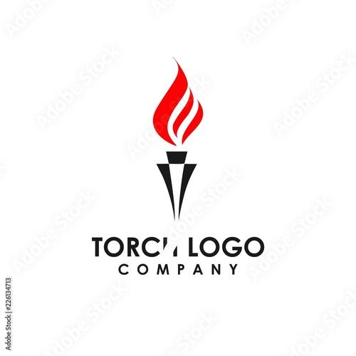 Fotografía torch logo template