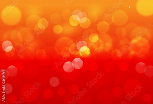 Abstract red bokeh background. Abstract gold bokeh background.