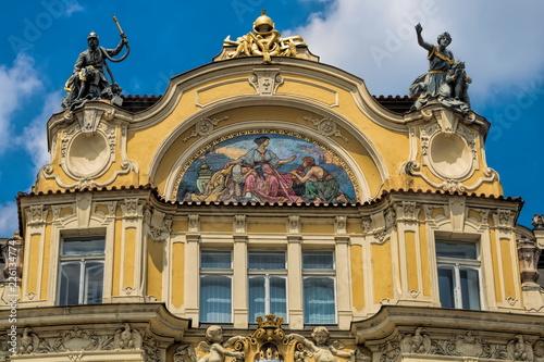 Staande foto Praag Prag, Sanierter Altbau