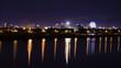 Evening city of Da Nang in Vietnam.