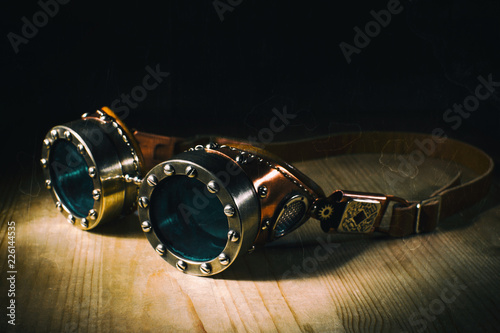 steampunk goggles Wallpaper Mural