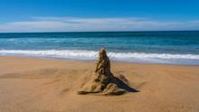 Sand Castle Awaiting Rising Tide
