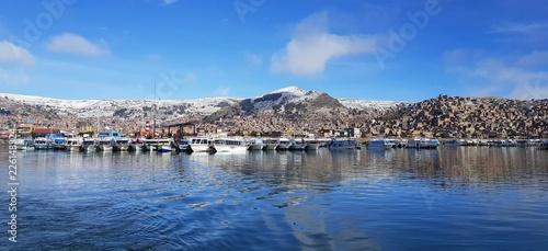 Fotobehang Zuid-Amerika land Au port de Puno