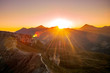 A stunning sunrise in the Hohe Tauern Nationalpark, Austria