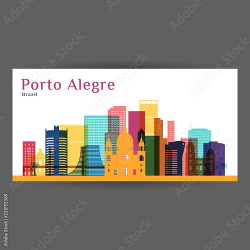 Photo Porto Alegre city architecture silhouette