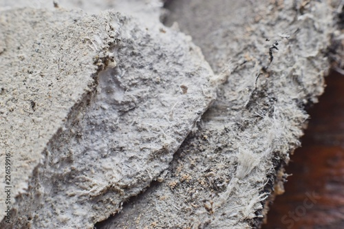 Detailed photography of roof covering material with asbestos fibres Canvas Print