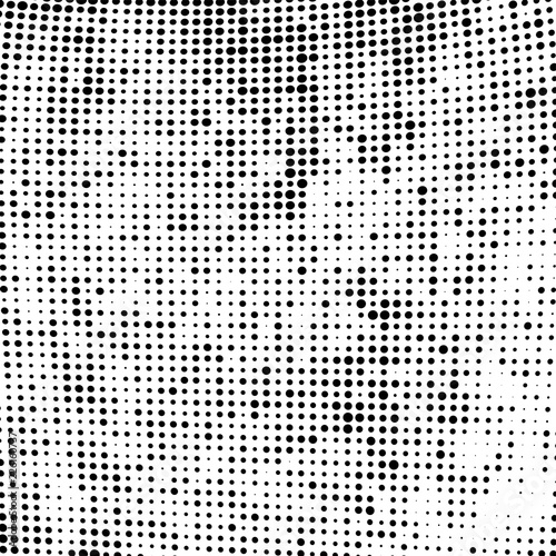 Fotografie, Obraz  Halftone texture black and white