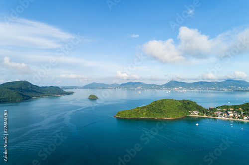 Foto op Plexiglas Luchtfoto Aerial view drone shot of beautiful phuket island,asia thailand