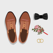 Groom Wedding Shoes With A Bow...