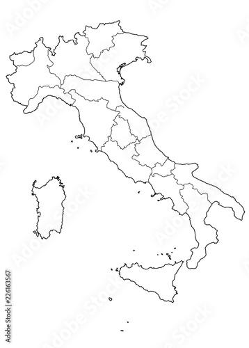 Cartina Italia Vettoriale.Cartina D Italia Con Regioni Buy This Stock Vector And Explore Similar Vectors At Adobe Stock Adobe Stock