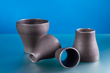 Concentric Reducers, Set Of Steel Welding Fittings.