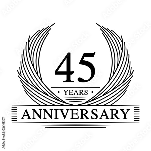 Photographie  45 years design template