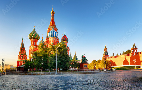 Foto op Canvas Aziatische Plekken Moscow, St. Basil's Cathedral in Red square, Russia
