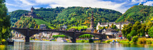 Landmarks Of Germany -  Medieval Cochem Town, Rhine River