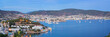 Panorama of Bodrum after sunset, Turkey