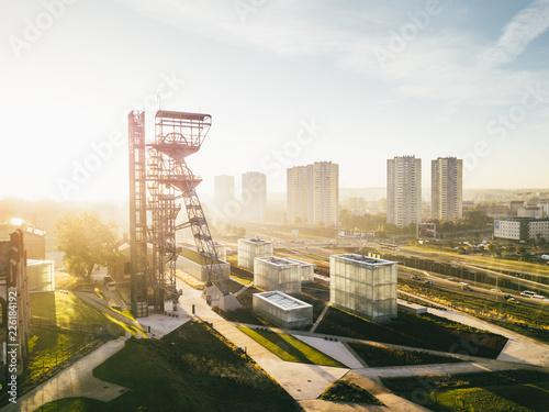 Obraz Katowice Muzeum Śląskie z powietrza (wschód) - fototapety do salonu