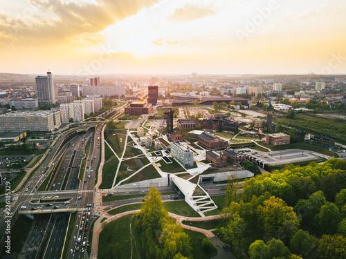 Katowice Panorama z powietrza
