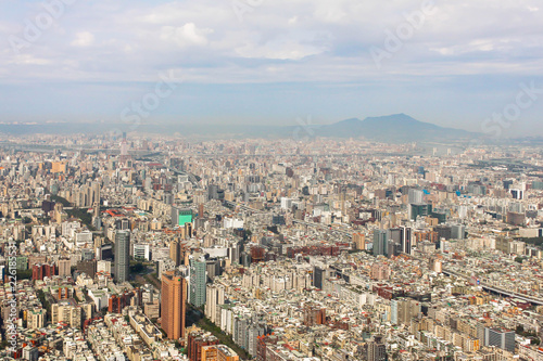 Photo  Viewpoint of Cityscape building in Taiwan on Taipei 101