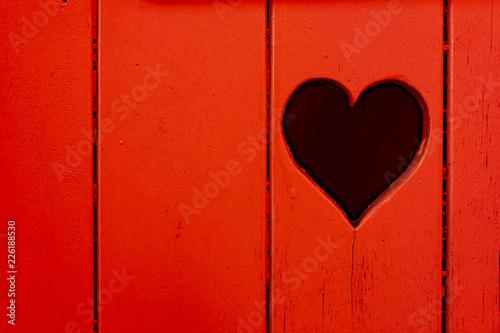 Tablou Canvas Herz im Holz