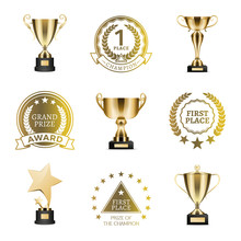 Grand Prize Winner Collection Vector Illustration