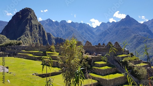 Spoed Foto op Canvas Zuid-Amerika land Citadelle du machu Picchu