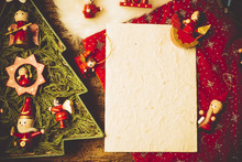 Christmas Greeting Card Copy Space