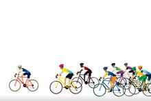Athlete Cyclist Background. Ve...