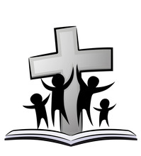 Christian Family Cross Book Illustration